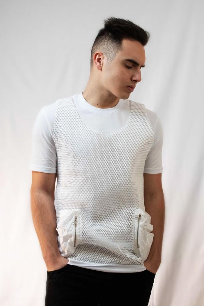 Shortsleeve fishnet t-shirt