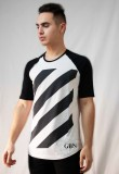 Shortsleeve t-shirt with stripes
